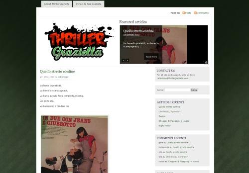 new site http://www.thrillergraziella.com/